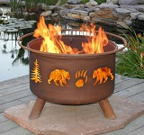 Bear & Tree Outdoor Fire Pit