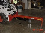Skid Steer Upside Down Log Splitter Attachment 20-Ton